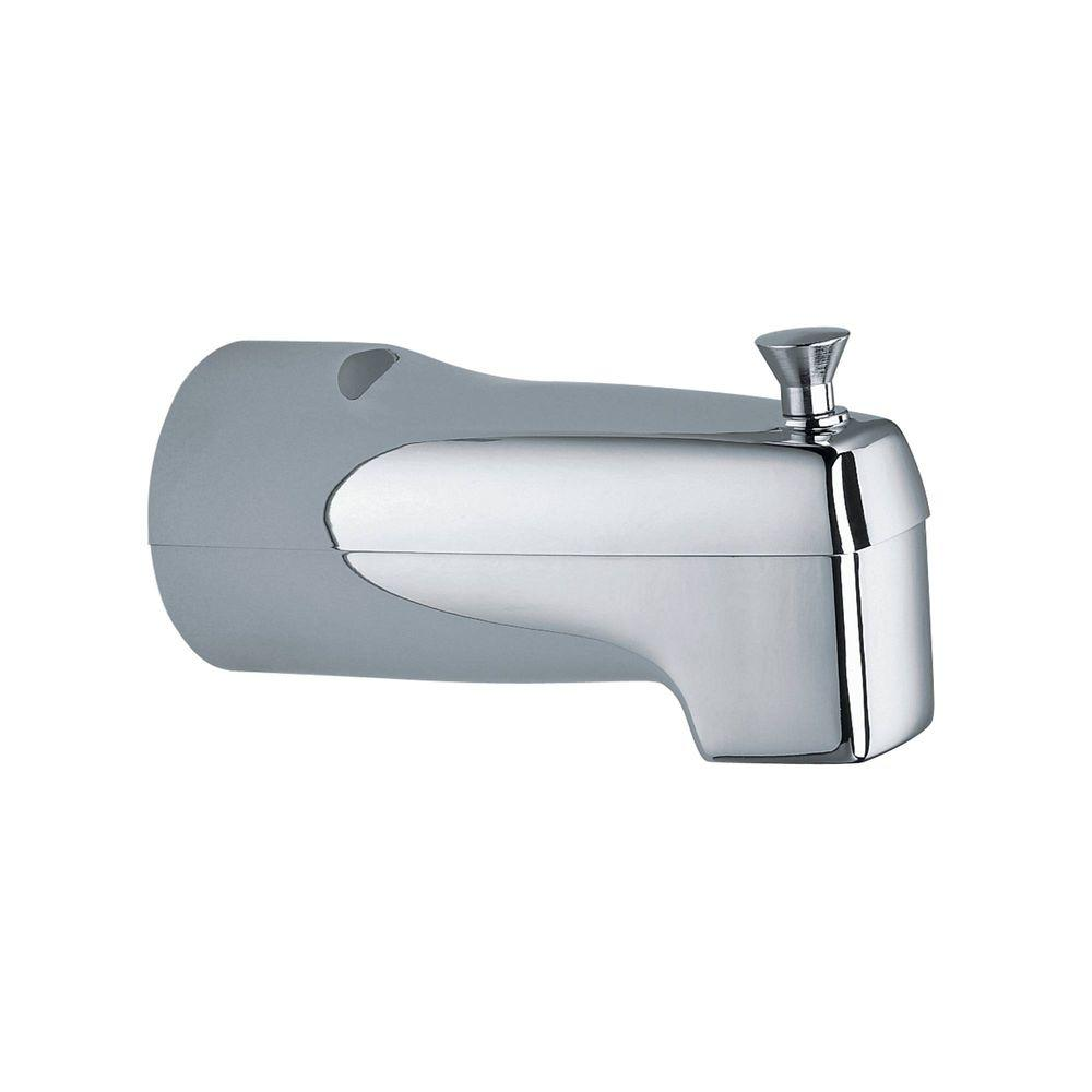 Diverter 5.5 in. Tub Spout with Slip Fit Connection in Chrome (Grey)