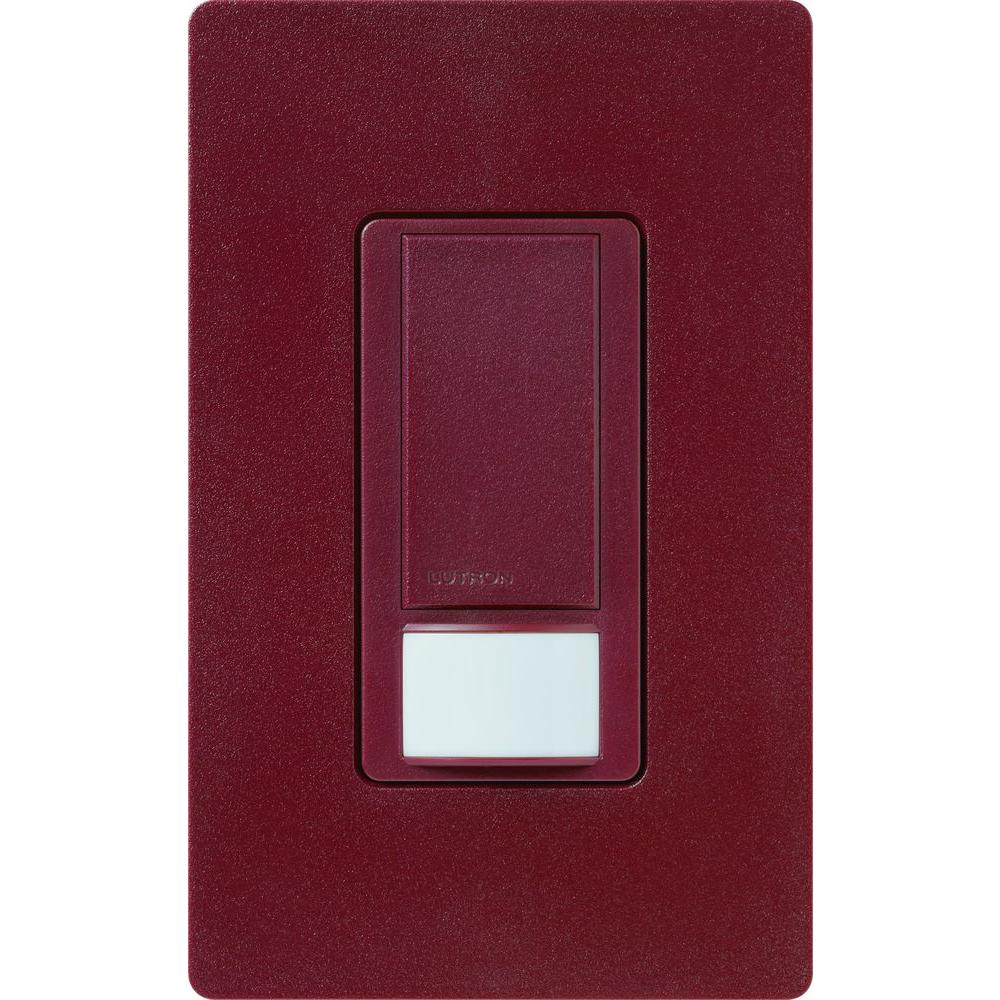 Maestro 6 Amp Multi-Location Dual Voltage Switch with Occupancy/Vacancy Sensor - Merlot
