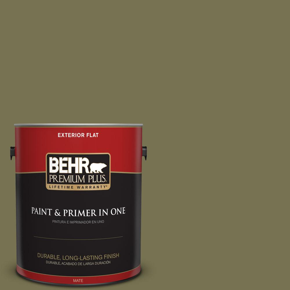 1-gal. #S350-6 Truly Olive Flat Exterior Paint