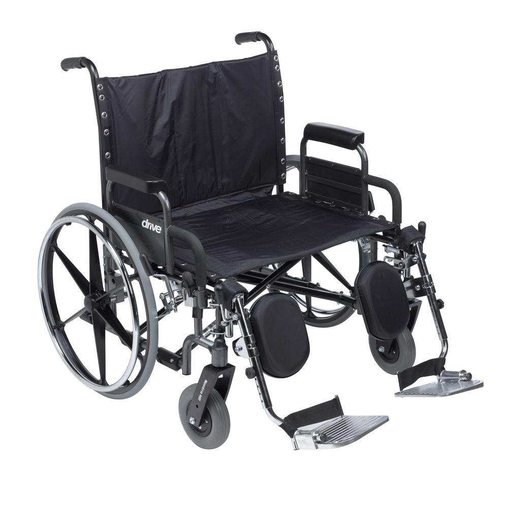 Drive Deluxe Sentra Heavy Duty Extra Wide Wheelchair with Detachable Desk