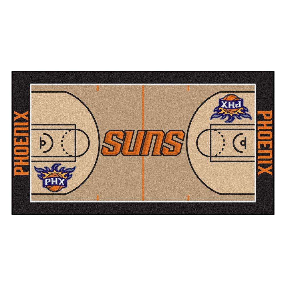 Contemporary Indoor/Outdoor FANMATS Rugs Phoenix Suns 2 ft. x 3 ft. 8 in. NBA Court Runner Team Colors 9502
