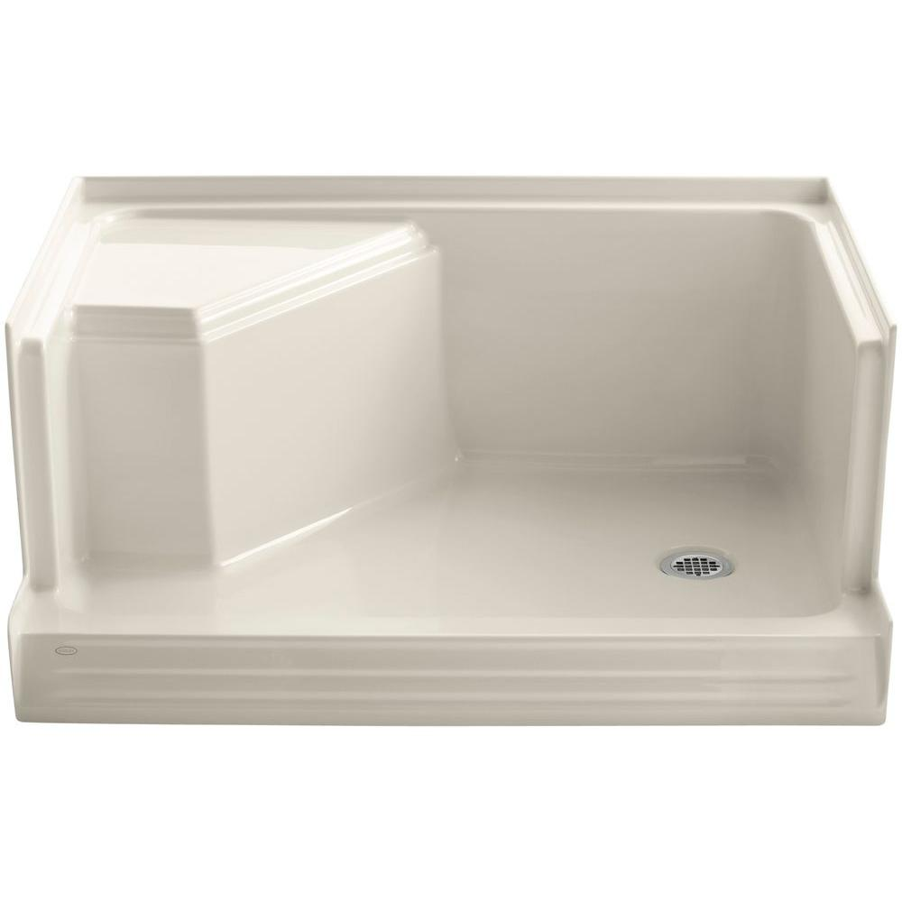 Memoirs 48 in. x 36 in. Single Threshold Shower Base with