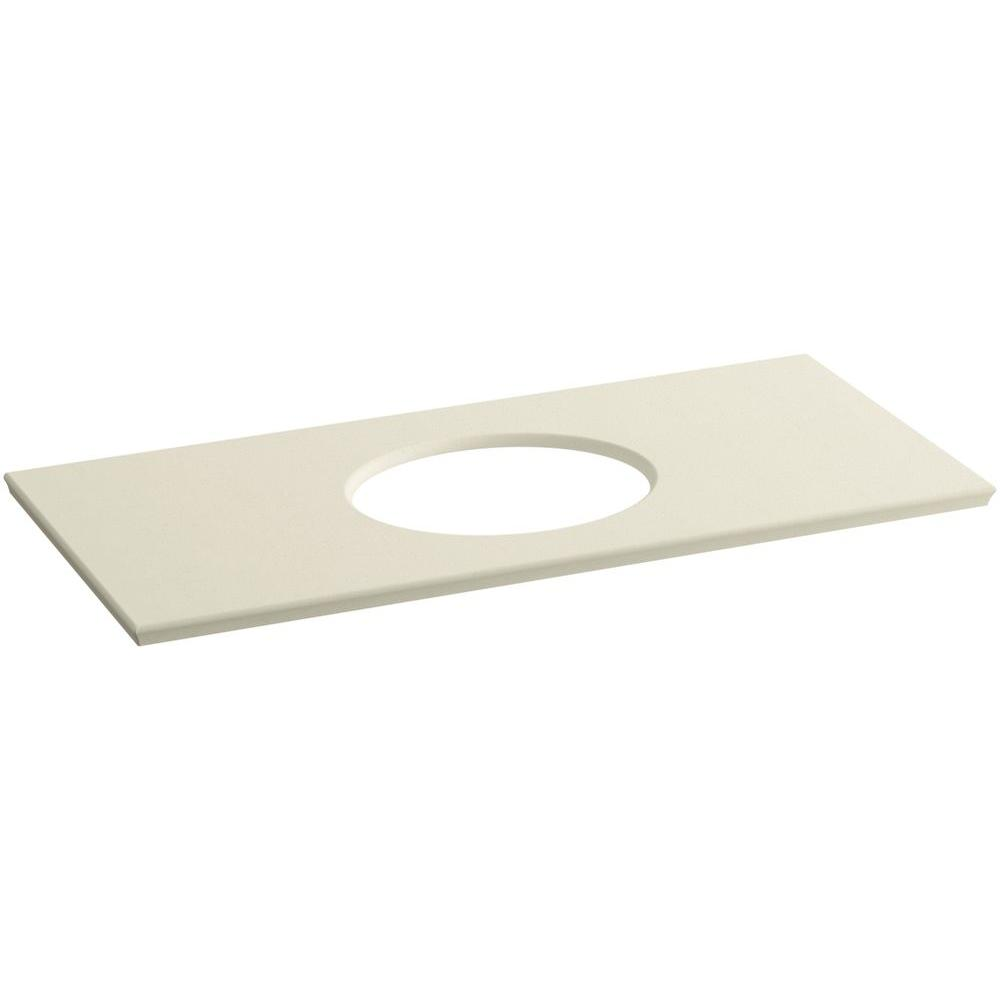 KOHLER Solid/Expressions 49.625 in. Solid Surface Vanity Top in Almond
