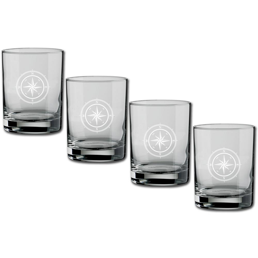 Kasualware Compass Point 14 oz. Double Old Fashioned Glass (Set of