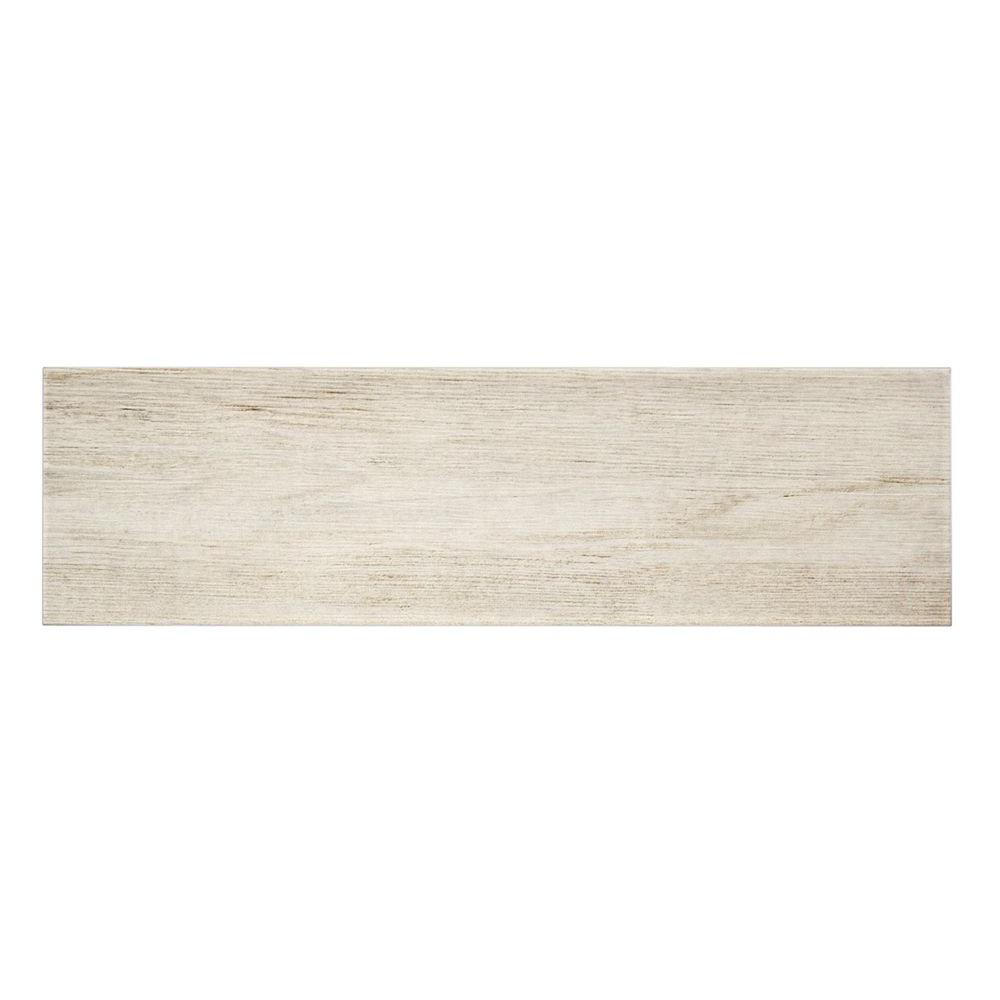 Listello Ara Bianco 7 in. x 24 in. Porcelain Floor and
