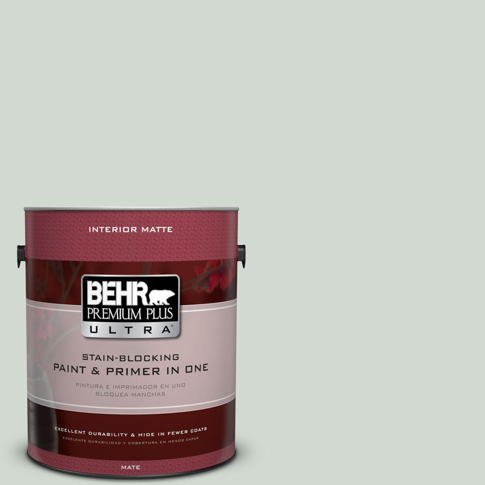 BEHR Premium Plus Ultra Home Decorators Collection 1 gal. #HDC-CT-23 Wind Fresh White Flat/Matte Interior Paint