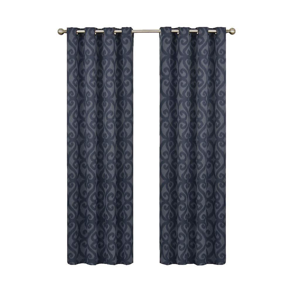 Eclipse Patricia Blackout Storm Blue Grommet Curtain Panel, 63 in. Length