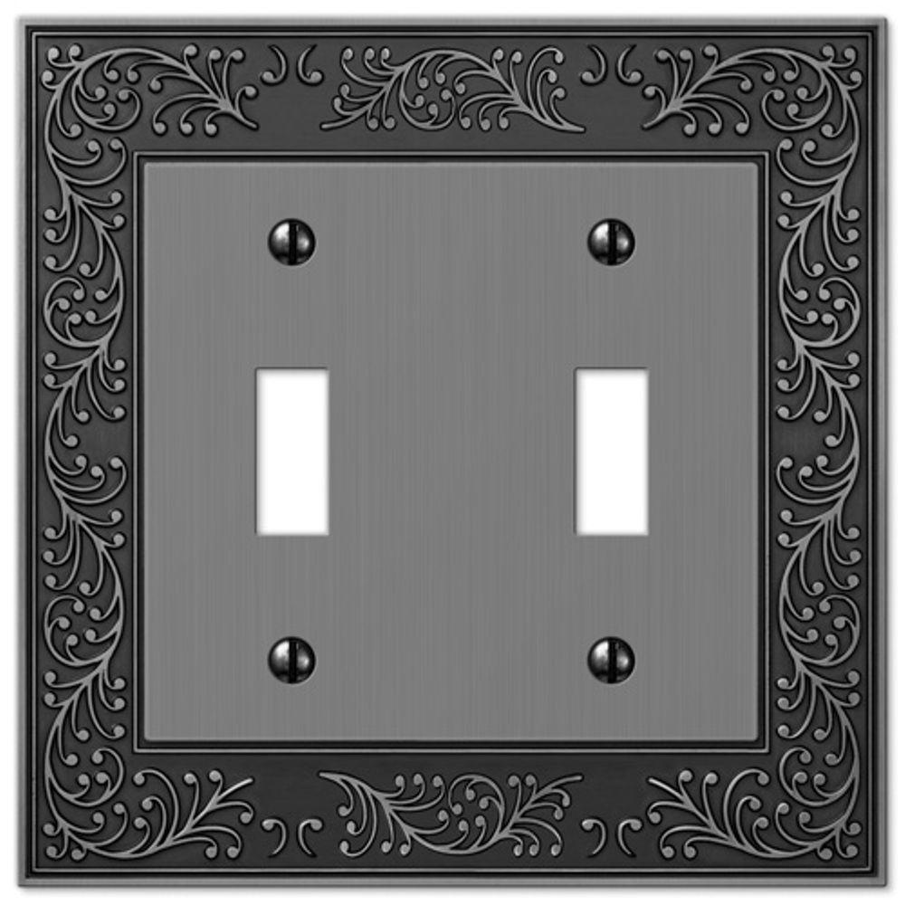 English Garden 2 Toggle Wall Plate - Antique Nickel
