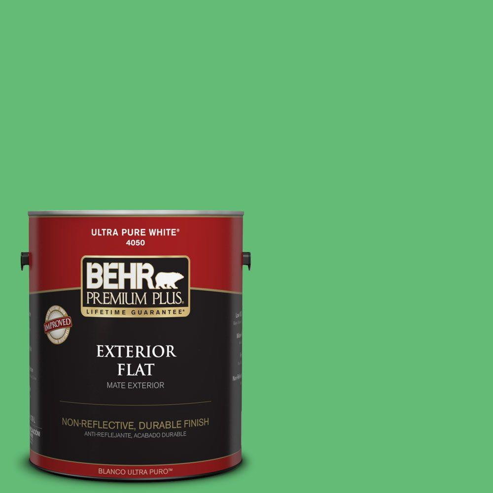 1-gal. #450B-5 Lady Luck Flat Exterior Paint