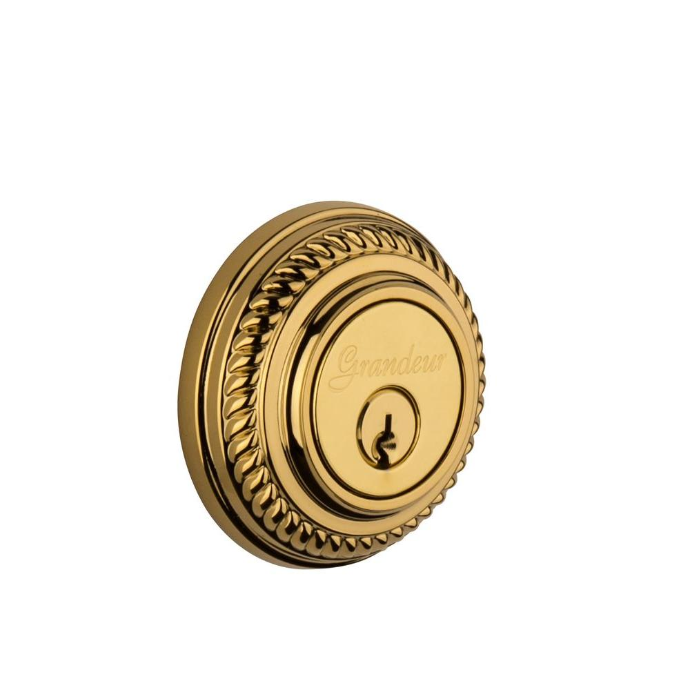 Newport Lifetime Brass Double Cylinder Deadbolt - Keyed Differently