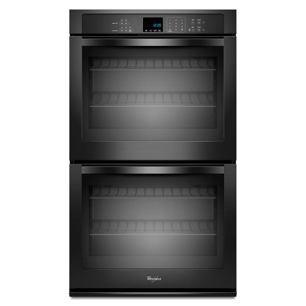 Whirlpool 30 in. Double Electric Wall Oven Self-Cleaning in Black-WOD51EC0AB -
