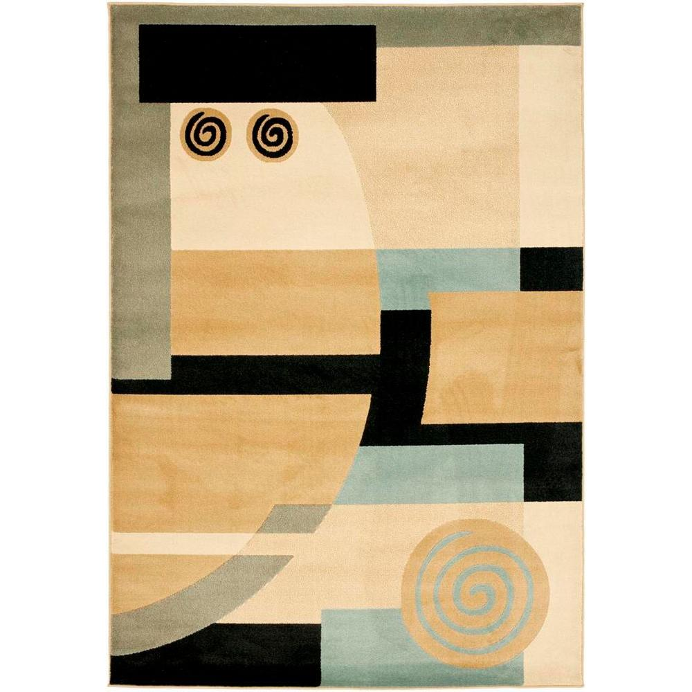 Porcello Black/Multi 4 ft. x 5 ft. 7 in. Area Rug