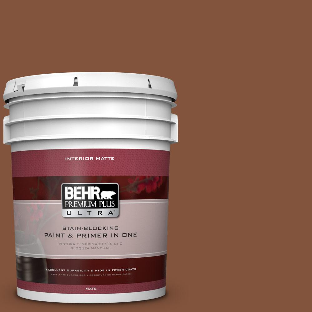 5 gal. #230F-7 Florence Brown Flat/Matte Interior Paint