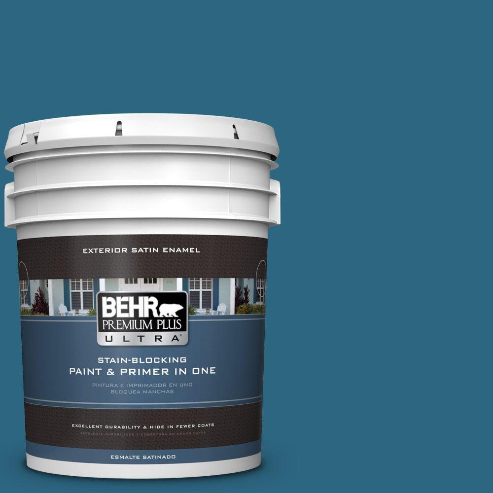 5-gal. #M480-7 Ice Cave Satin Enamel Exterior Paint