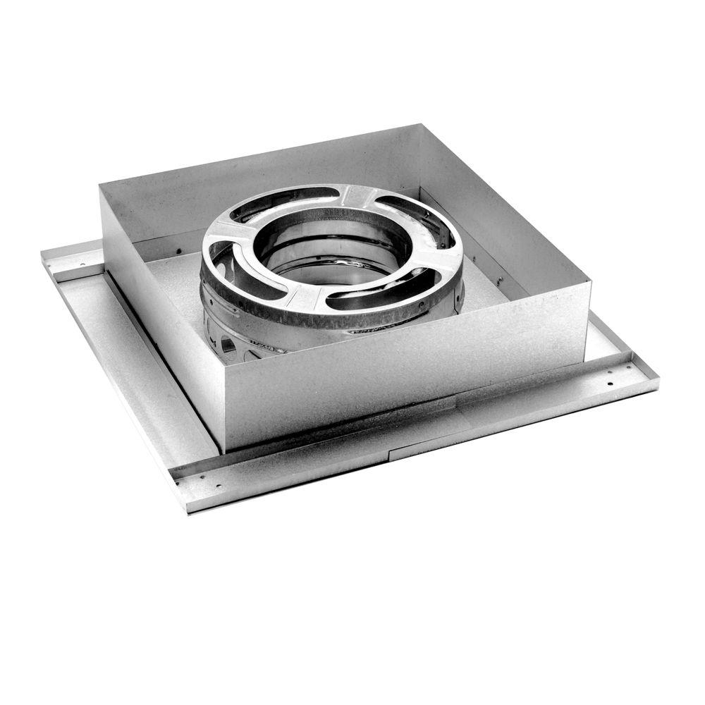 DuraVent DuraPlus 6 in. Flat Ceiling Support Box-6DP-FCS - The Home