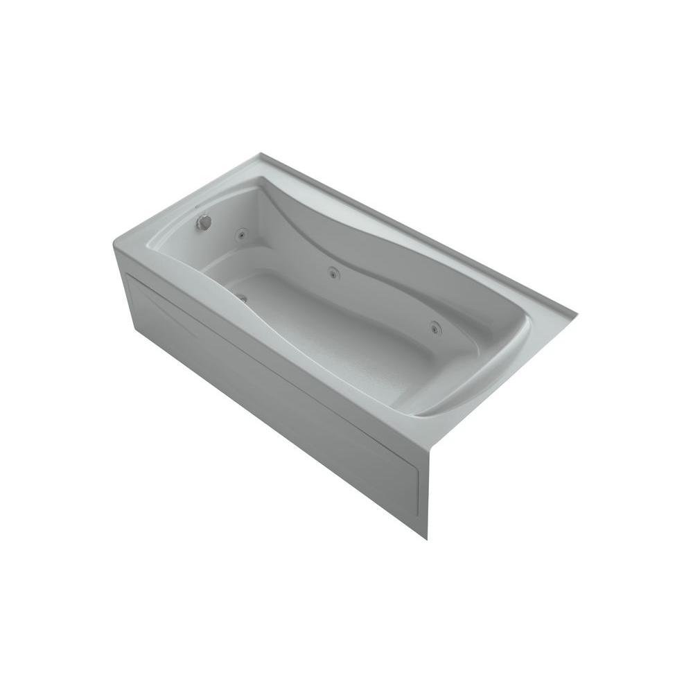 KOHLER Mariposa 6 ft. Whirlpool Tub in Ice Grey-DISCONTINUED