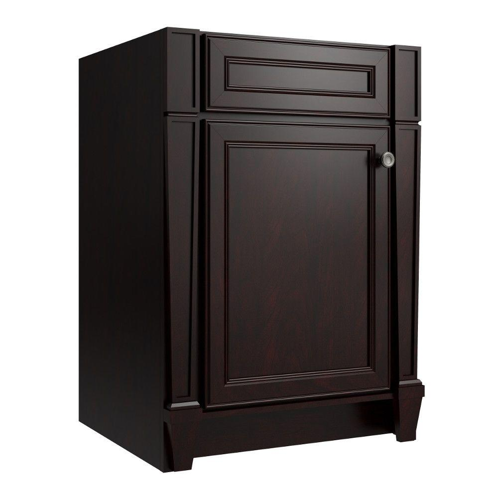 Cardell Norton 24 in. W x 21 in. D x 34.5 in. H Vanity Cabinet Only in Twilight