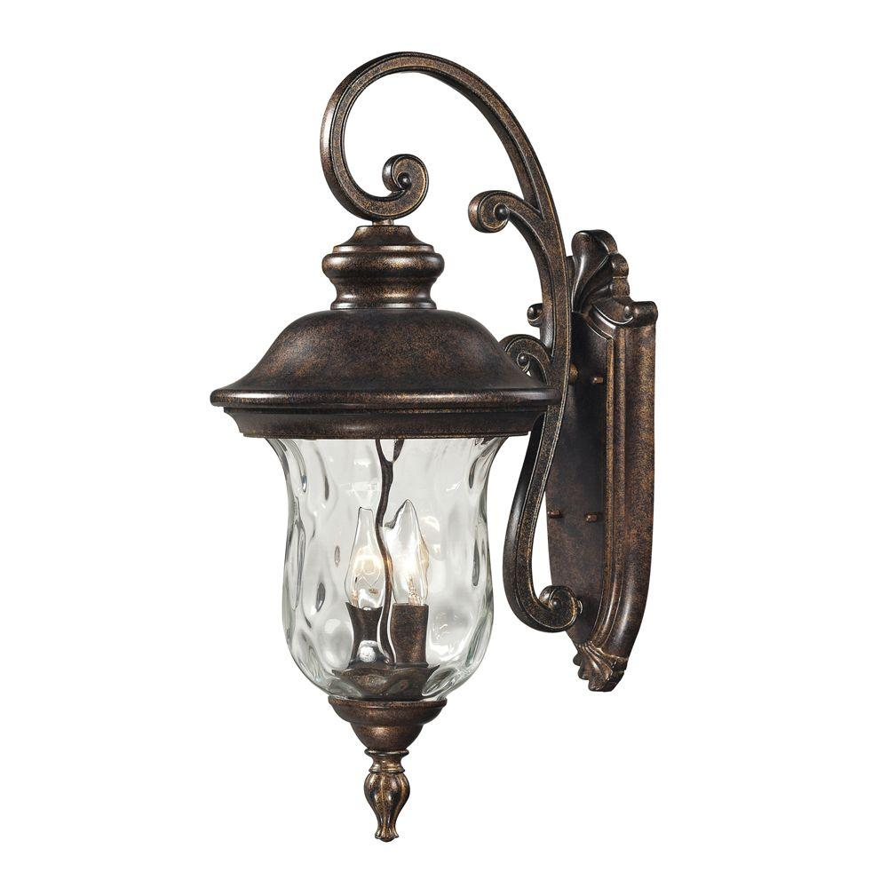 Lafayette 2-Light Regal Bronze Outdoor Sconce