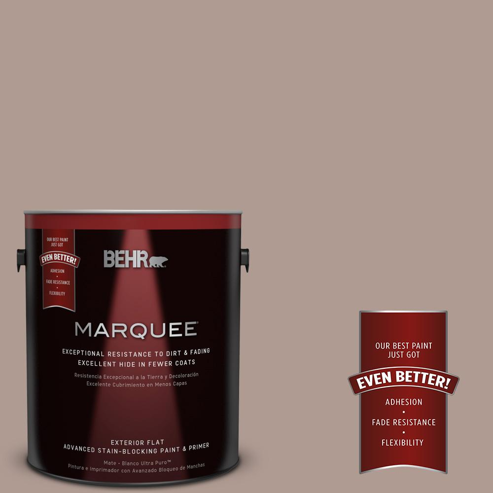 1-gal. #N170-4 Coffee With Cream Flat Exterior Paint