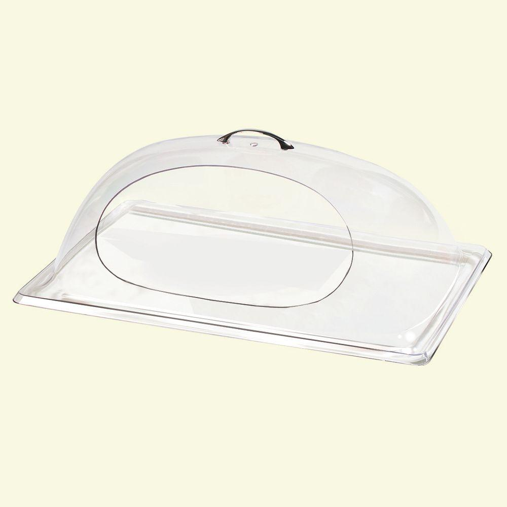 Carlisle 21.13 in. x 13.13 in. Polycarbonate Clear Dome Cover to