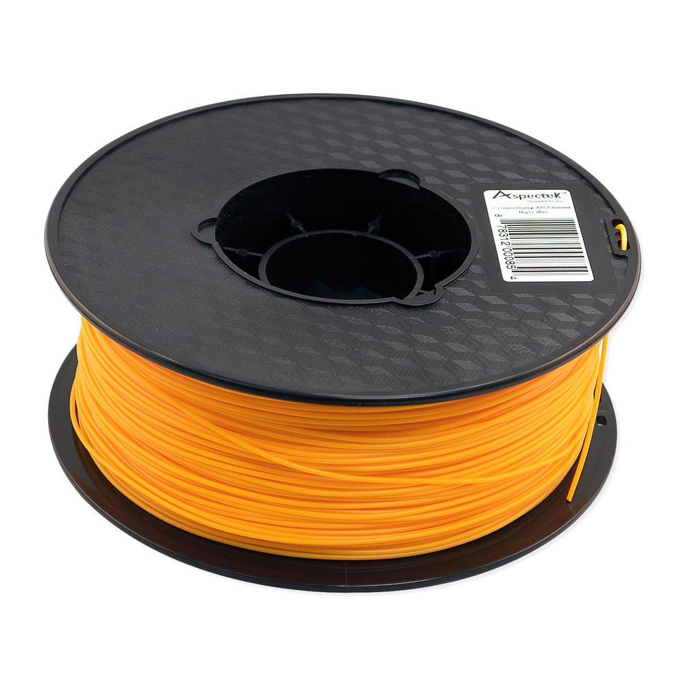 Aspectek 3D Printer Premium Orange ABS Filament-HZ124111 - The Home Depot