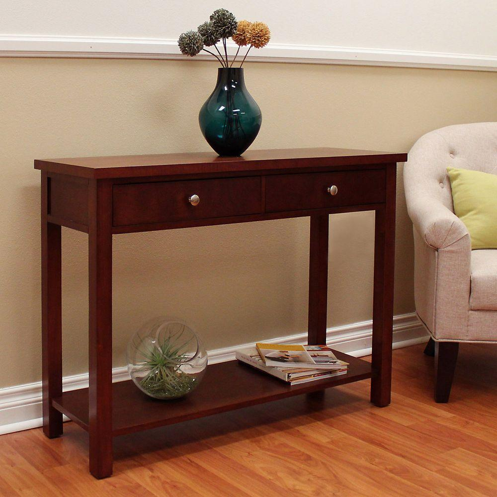 pulaski furniture aged grey storage console tableds  the  - oakdale cherry storage console table