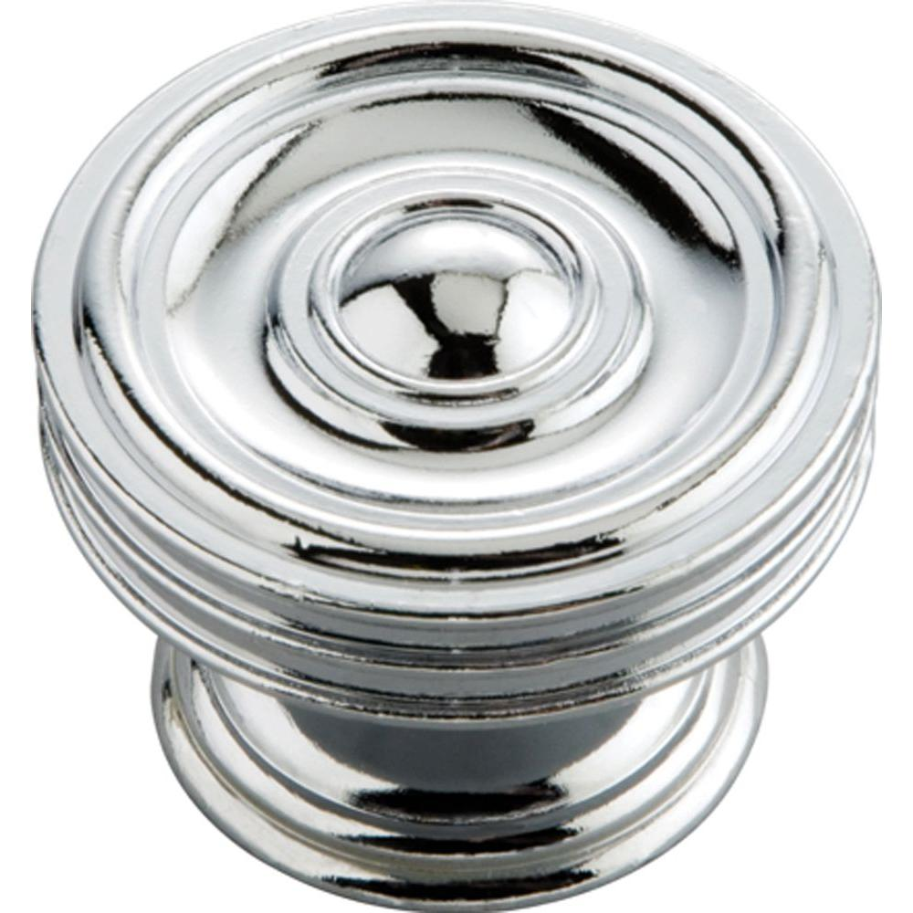 hickory hardware concord 1 5 8 in chrome cabinet knob p3130 ch the home depot. Black Bedroom Furniture Sets. Home Design Ideas