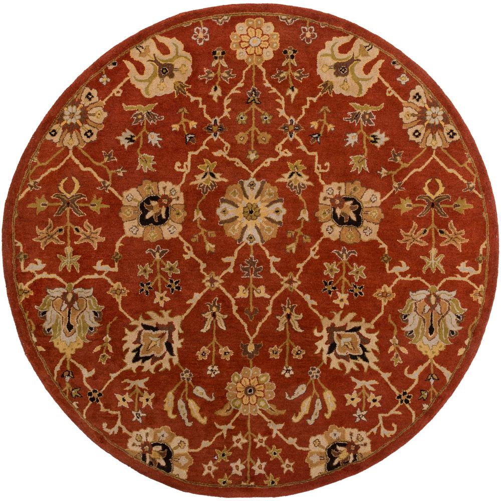 Middleton Allison Rust 8 ft. x 8 ft. Round Indoor Area