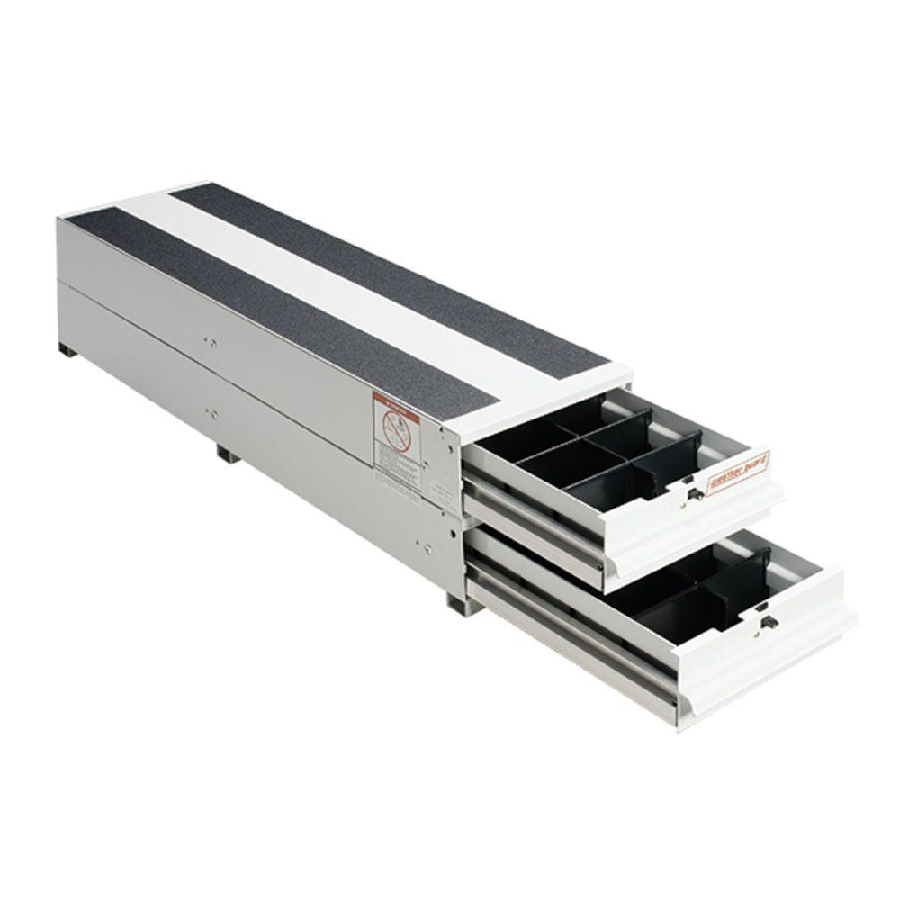 12.25 in. Aluminum Stacked Itemizer Van Drawer Unit in Brite White