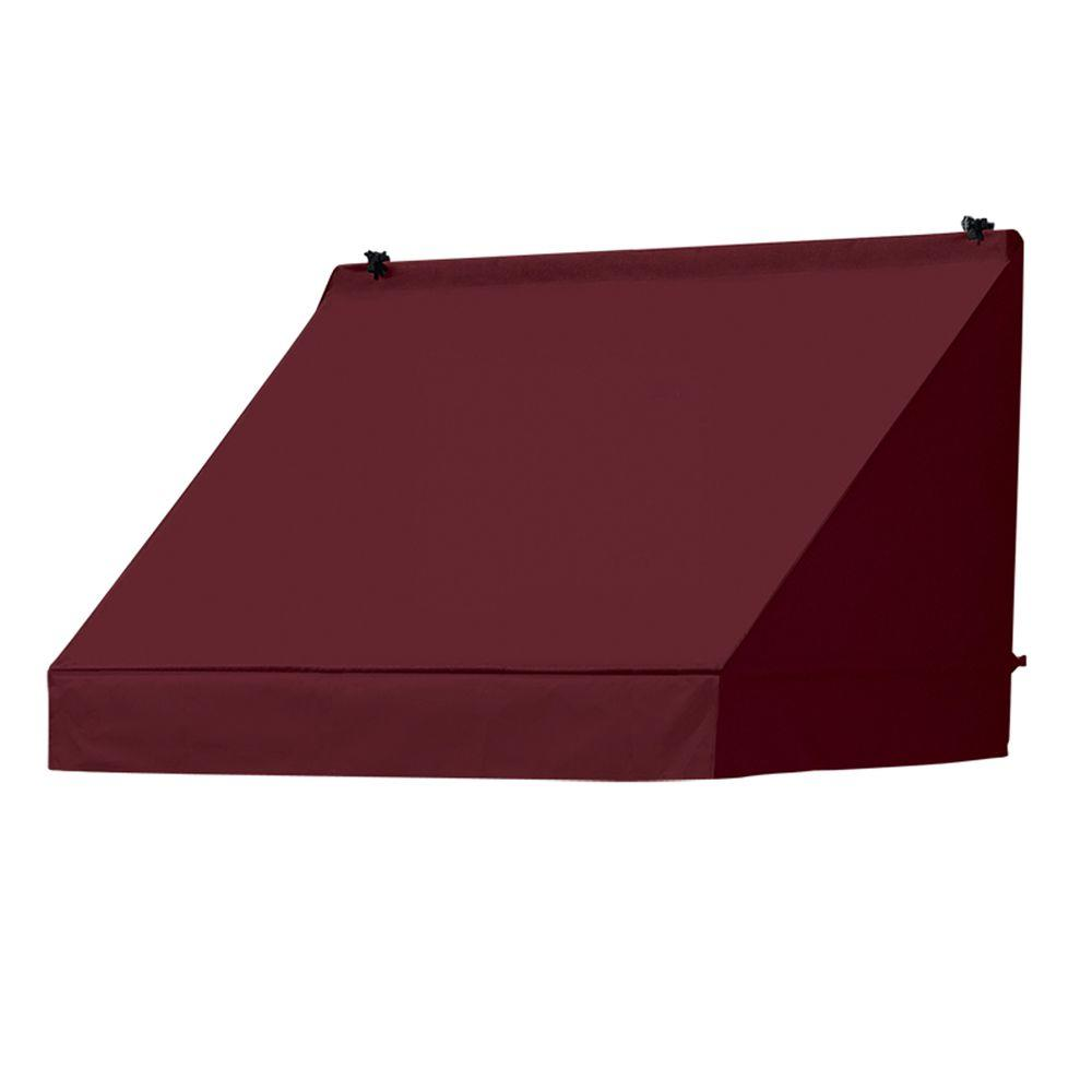 4 ft. Classic Manually Retractable Awning (26.5 in. Projection) in Burgundy