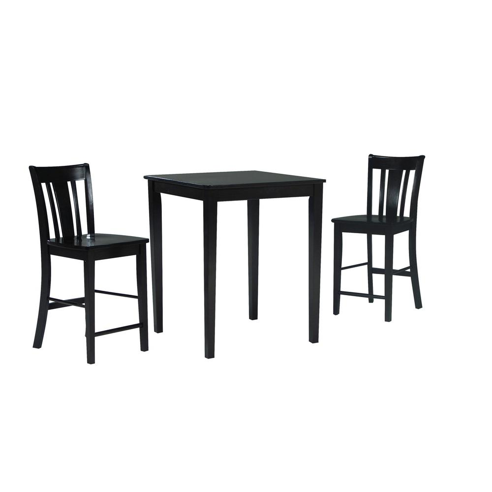 Counter Height 3-Piece Rich Mocha Dining Set