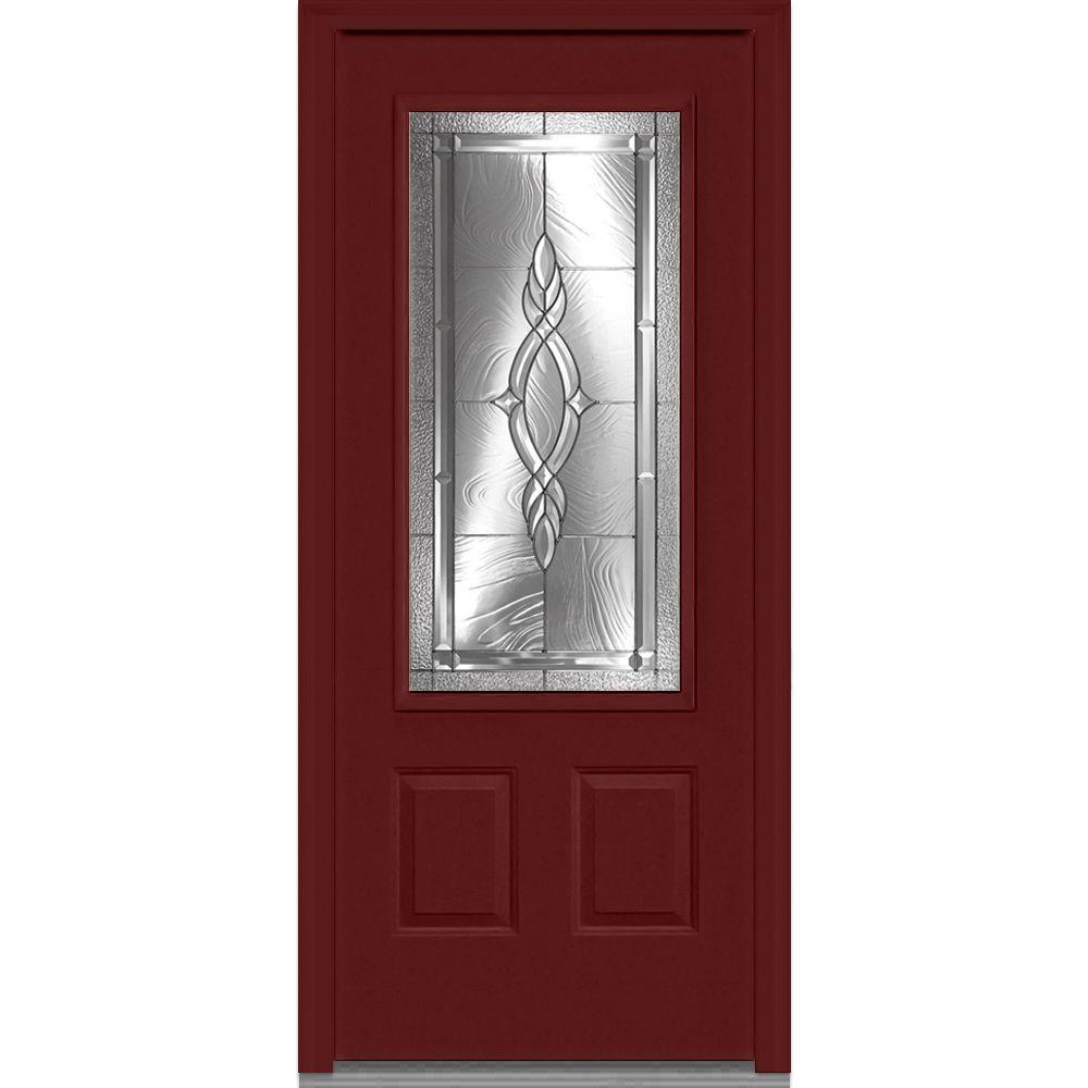 37.5 in. x 81.75 in. Brentwood Decorative Glass 3/4 Lite 2