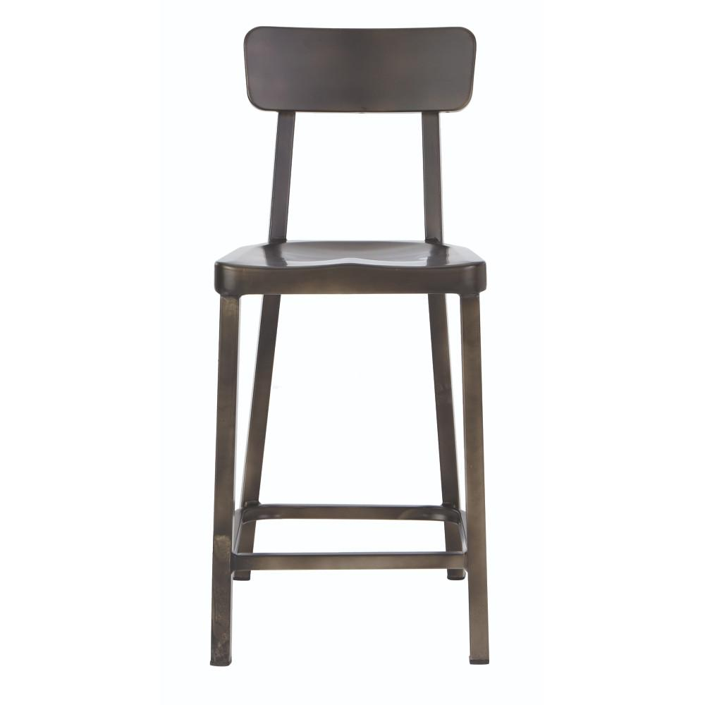 Home decorators collection jacob 24 in gun metal bar stool 1920800660 the home depot Home depot wood bar stools