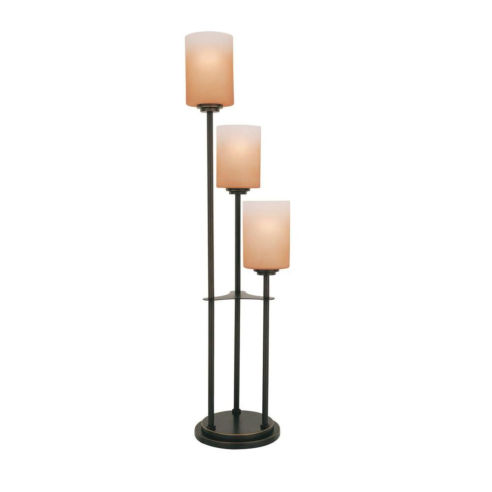 Illumine 34 in. Bronze Table Lamp with Amber Glass-CLI-LS-20700D/BRZ - The