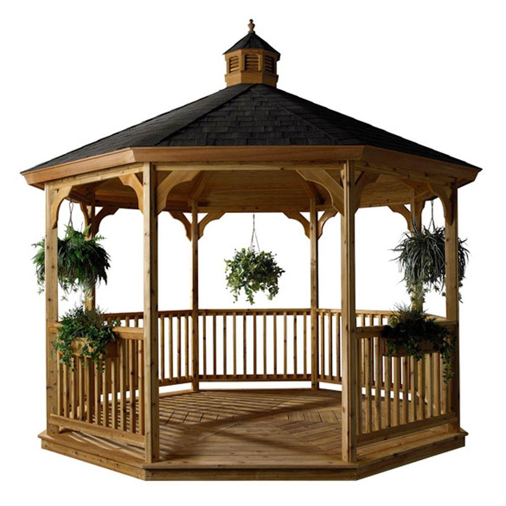 HomePlace Structures 12 ft. Cedar Octagon Gazebo with Floor