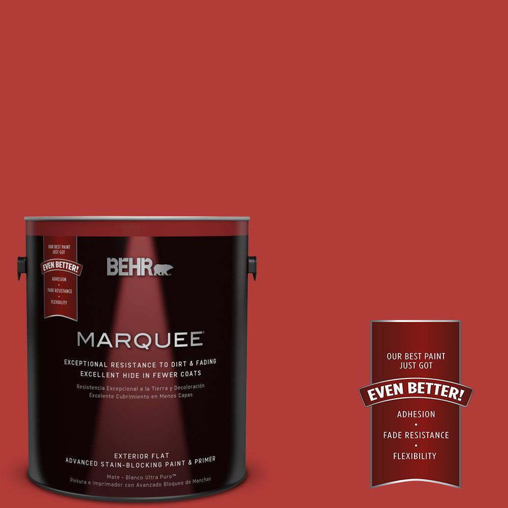 1-gal. #170B-7 Red Tomato Flat Exterior Paint