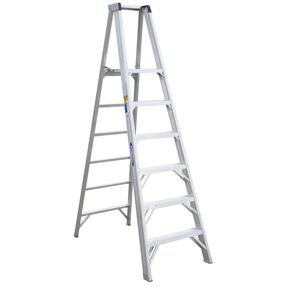 Werner 6 ft. Aluminum Platform Step Ladder with 300 lb. Load