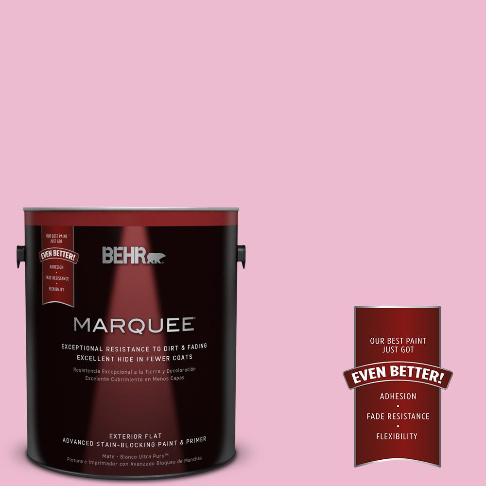 BEHR MARQUEE 1-gal. #P130-2 Pink Innocence Flat Exterior Paint-445001 - The