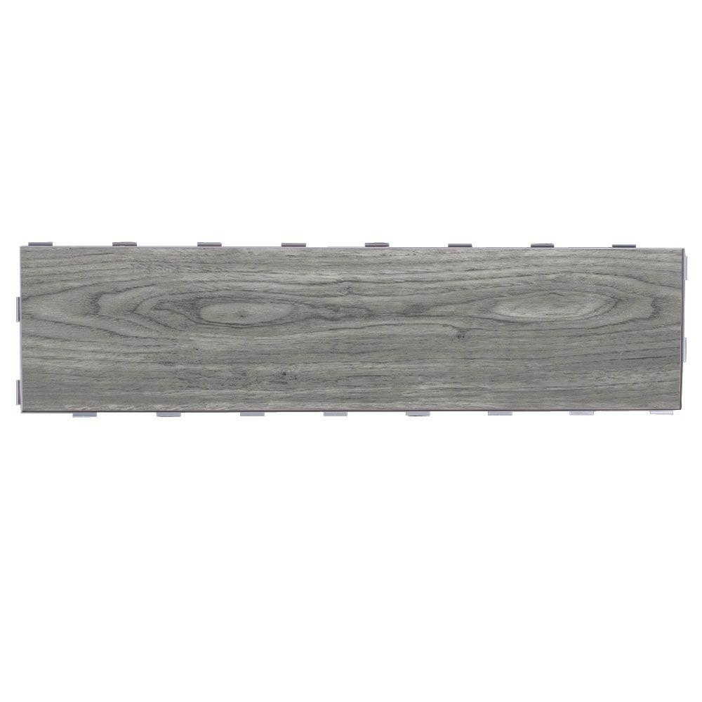 SnapStone Weathered Grey 6 in. x 24 in. Porcelain Floor Tile