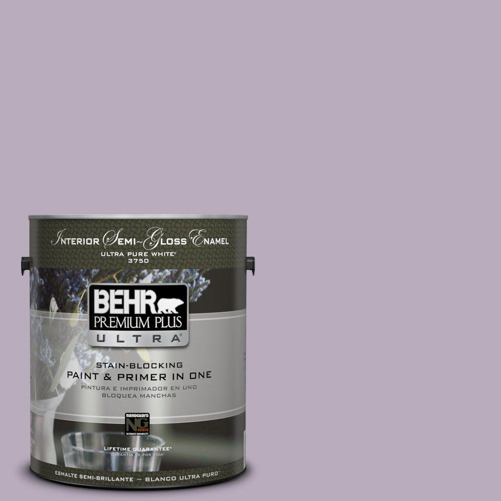1-gal. #HDC-SP14-12 Exclusive Violet Semi-Gloss Enamel Interior Paint