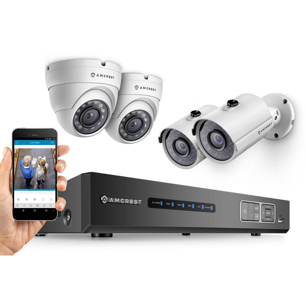 1080P Tribrid HDCVI 4CH 2TB DVR Security System with 2 x