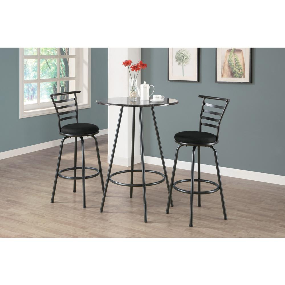 29 in. Silver Gray Swivel Cushioned Bar Stool