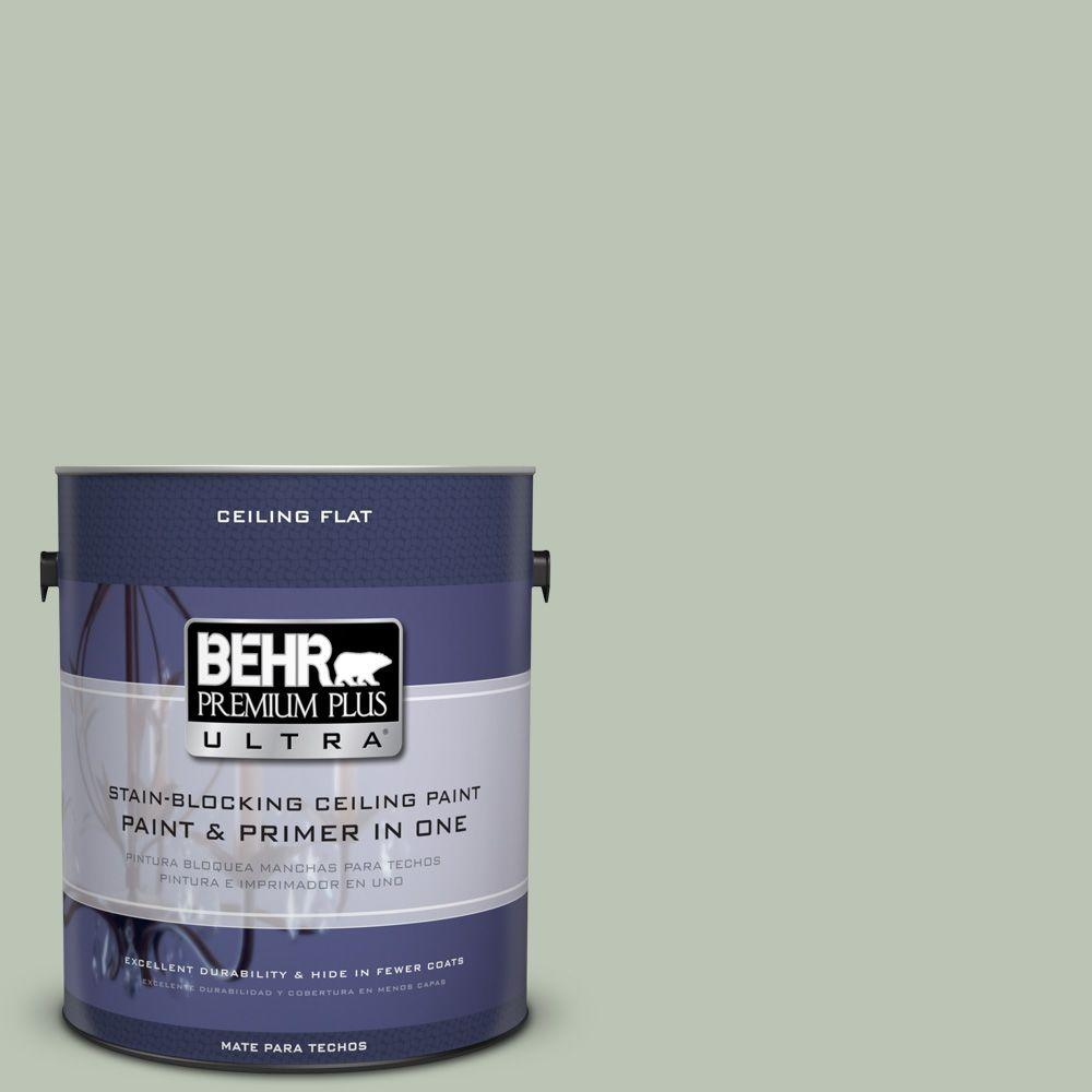BEHR Premium Plus Ultra 1-gal. #PPU11-11 Ceiling Tinted to Summer Green Interior Paint