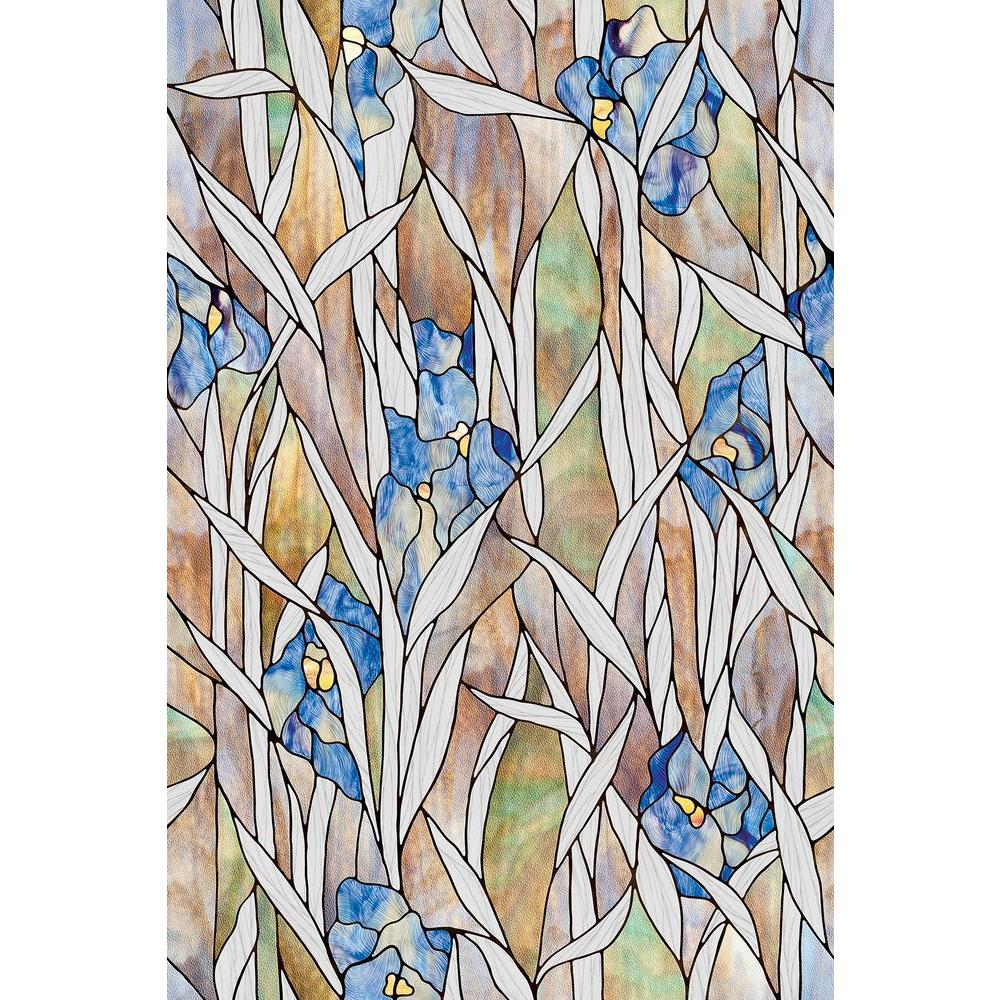 24 in. x 36 in. Iris Decorative Window Film
