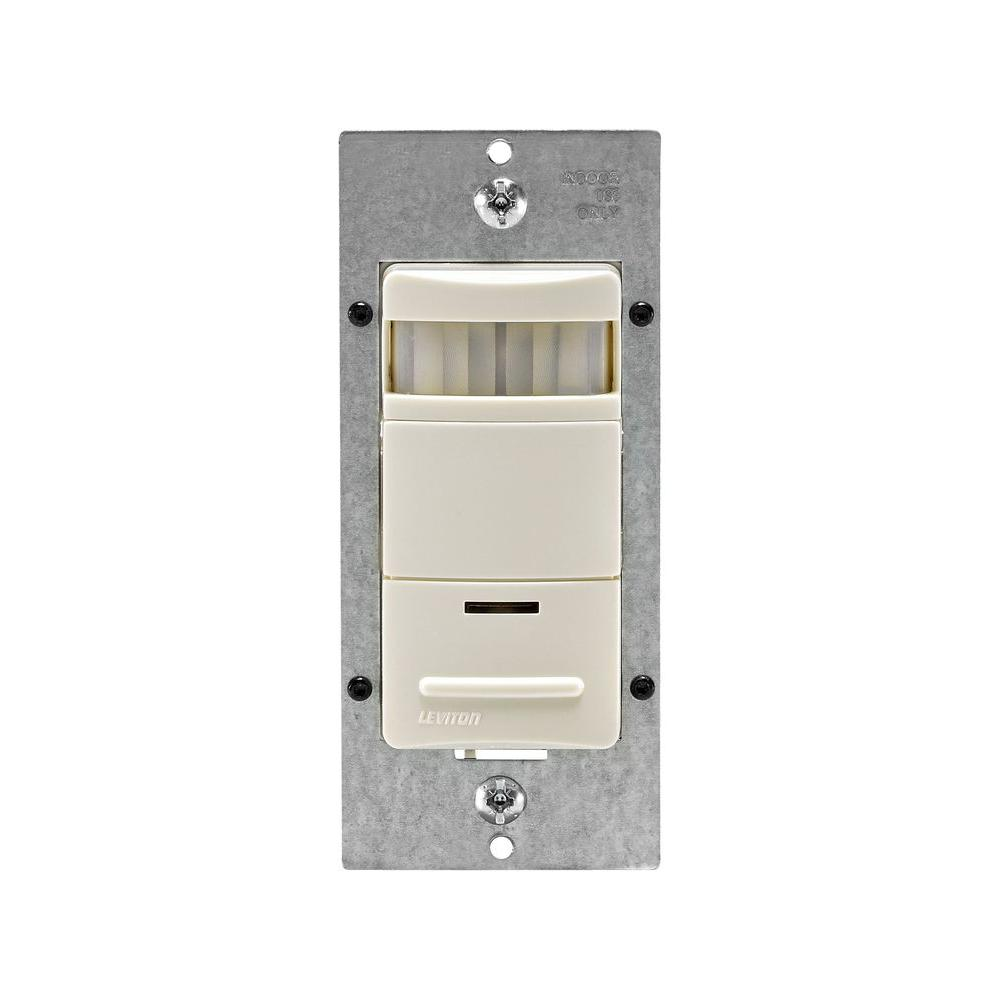 Leviton Decora Passive Infrared Occupancy Sensor with LED Adjustable Night Light, Light Almond
