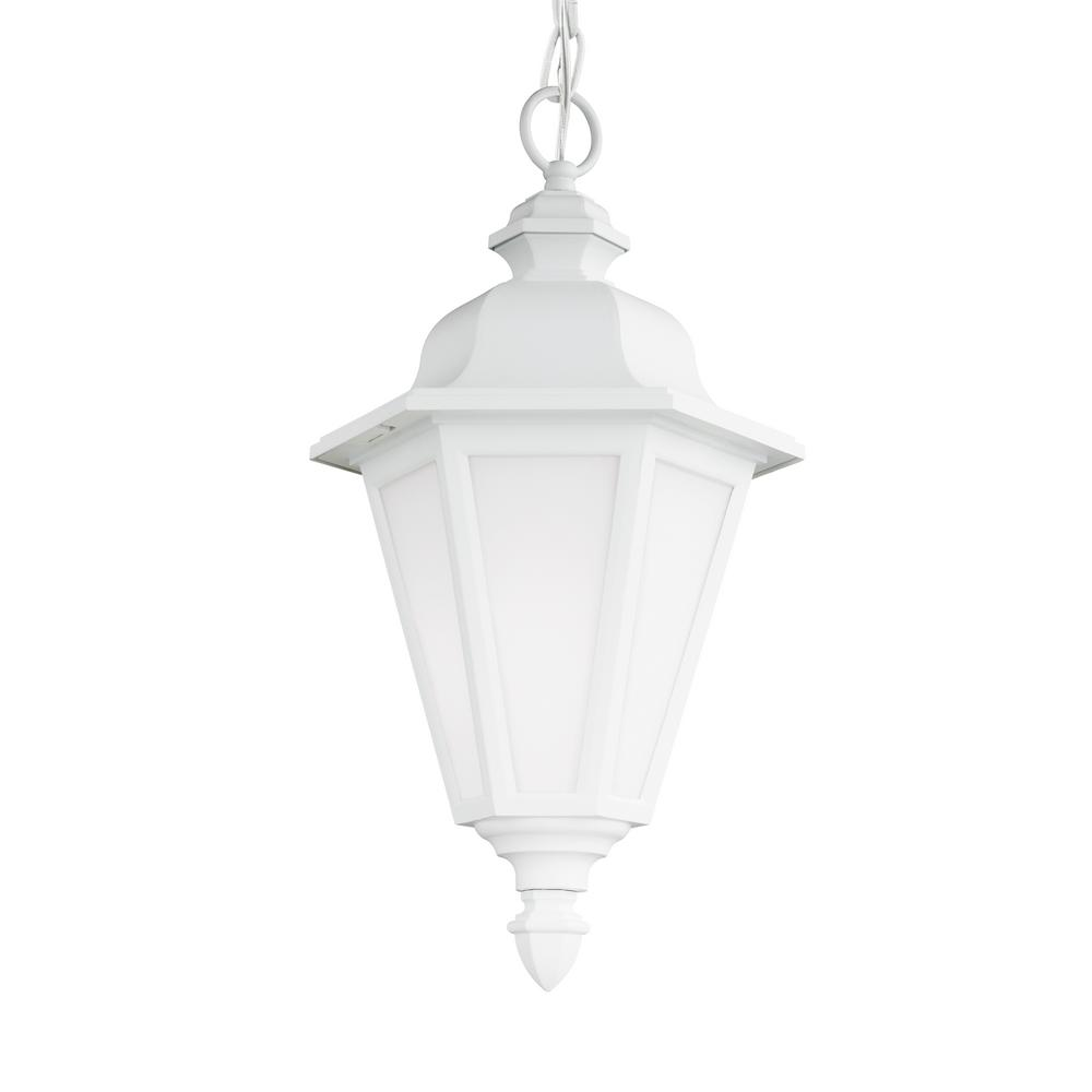 Brentwood White 1-Light Outdoor Hanging Pendant