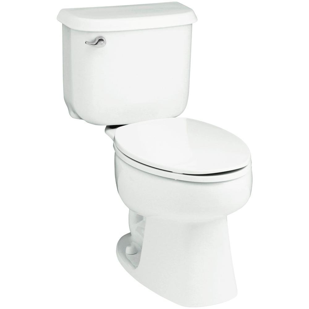 STERLING Windham 2-piece 1.6 GPF Single Flush Elongated Toilet in White-402210-0