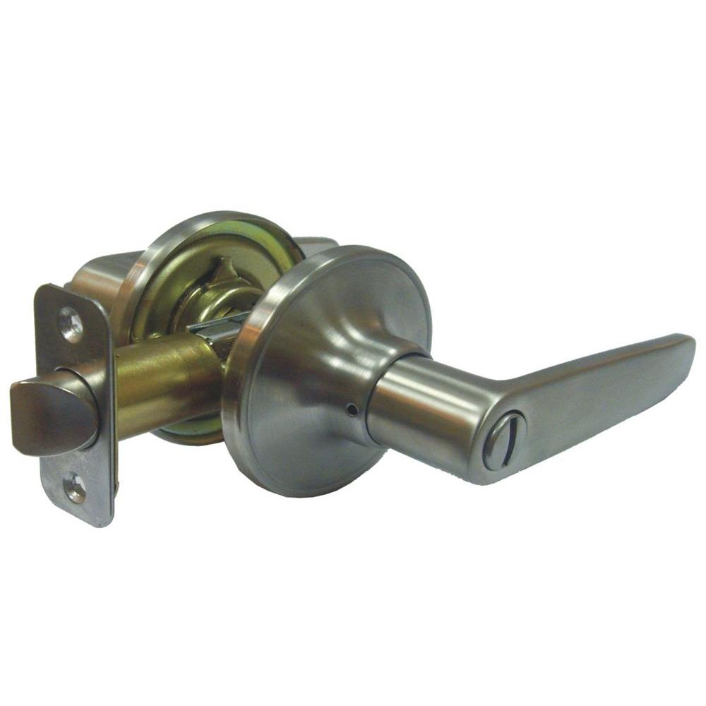 Faultless Straight Stainless Steel Privacy Lever