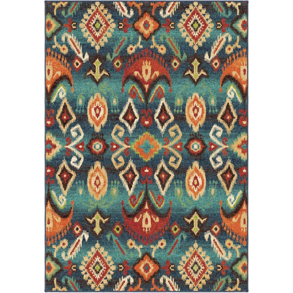 Eastern Tradition Multi Southwestern 6 ft. 7 in. x 9 ft.