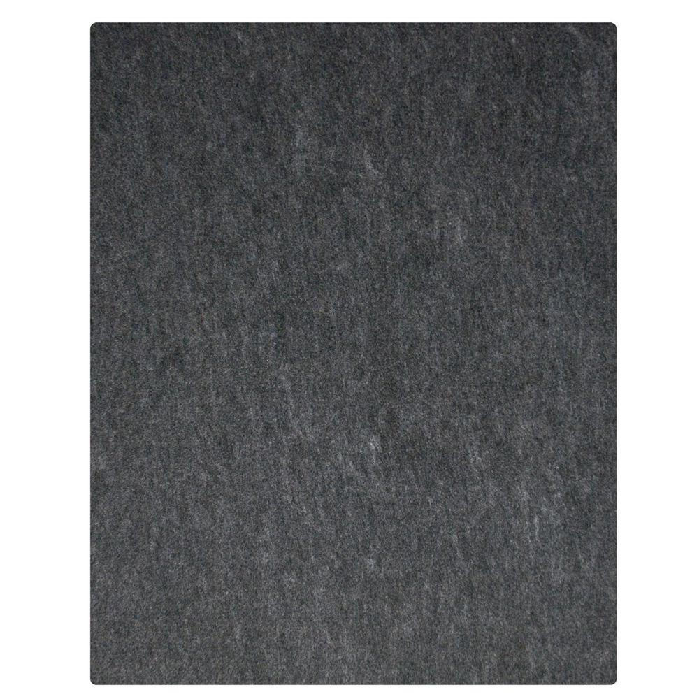 7 ft. 4 in. x 17 ft. Charcoal Grey Commercial Polyester